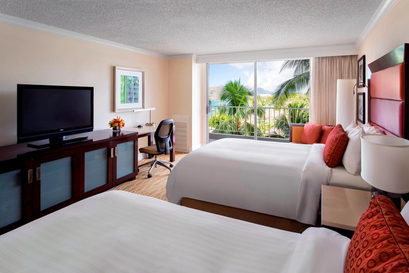 Kauai Marriott Resort-Double/Double Partial Ocean View Guest Room<br/>Image from Leonardo