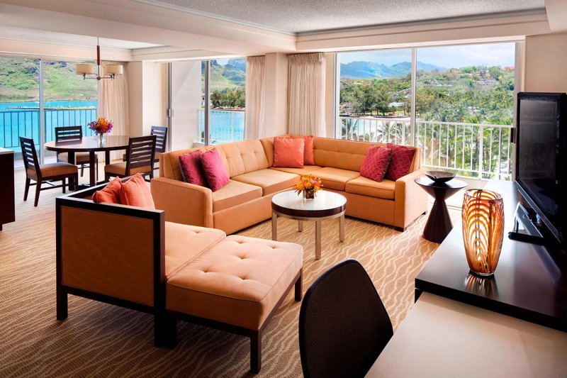Kauai Marriott Resort-King Suite - Living Area<br/>Image from Leonardo