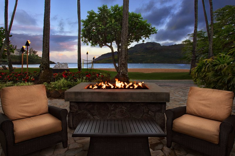 Kauai Marriott Resort-Outside Dining - Firepit<br/>Image from Leonardo