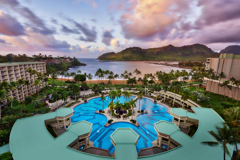 Kauai Marriott Resort-Outdoor Pool - Aerial View<br/>Image from Leonardo