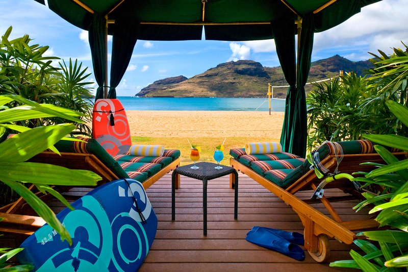 Kauai Marriott Resort-Oceanfront Cabana<br/>Image from Leonardo