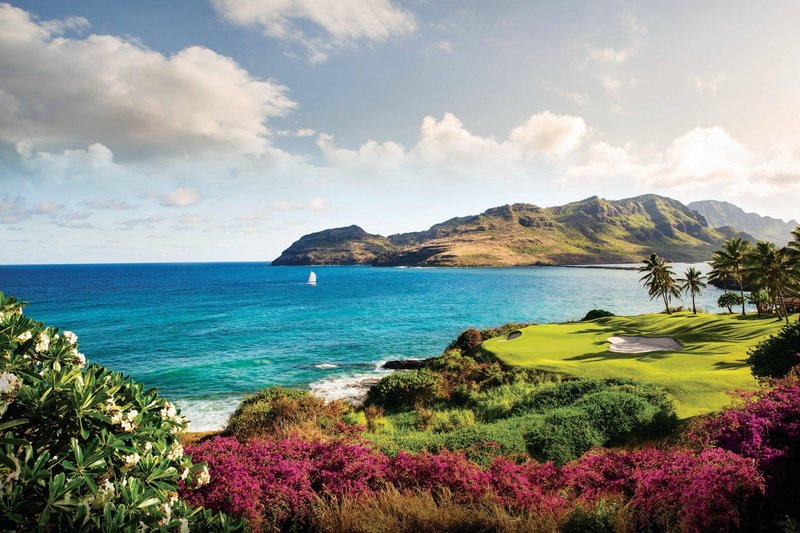 Kauai Marriott Resort-Ocean Course at Hokuala - 14th Hole<br/>Image from Leonardo