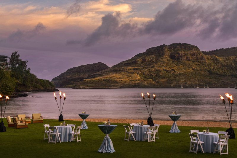 Kauai Marriott Resort-Luau Gardens at Sunset<br/>Image from Leonardo