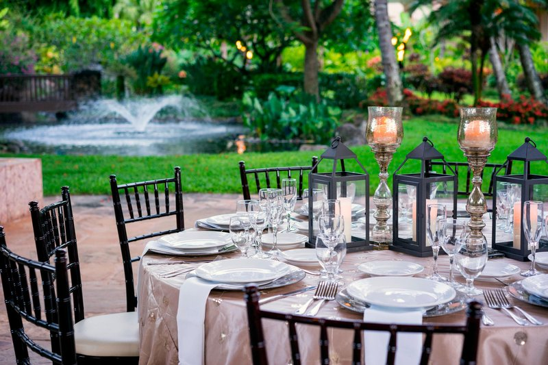 Kauai Marriott Resort-Outdoor Meeting Details<br/>Image from Leonardo