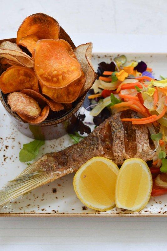 Marriott Grand Cayman-Veranda – Caribbean Fish & Chips<br/>Image from Leonardo