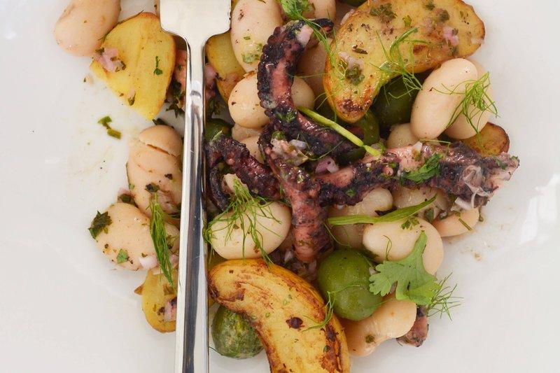 Marriott Grand Cayman-Anchor & Den - Grilled Octopus Salad<br/>Image from Leonardo
