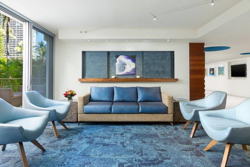Courtyard by Marriott Waikiki-Lobby - Sitting Areas<br/>Image from Leonardo