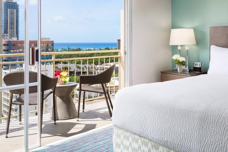 Courtyard by Marriott Waikiki-King Guest Room Balcony<br/>Image from Leonardo