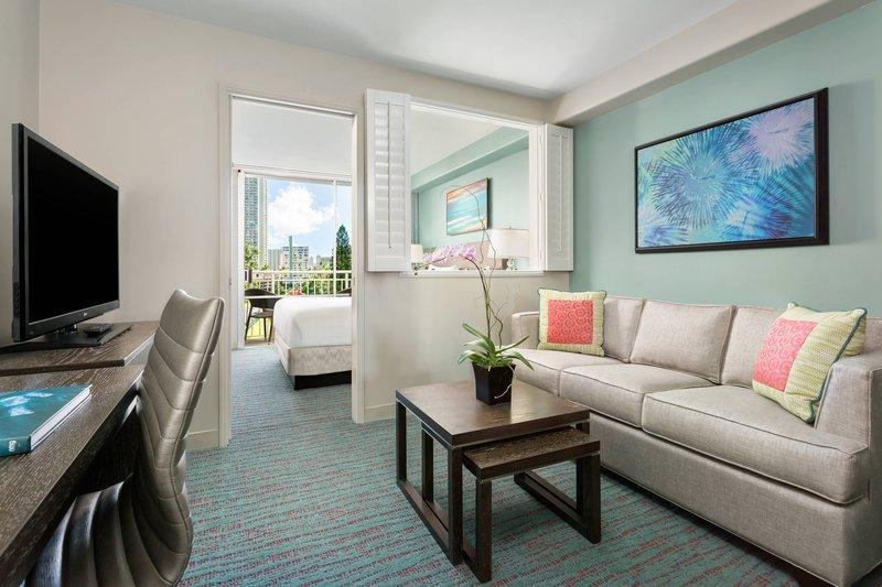 Courtyard by Marriott Waikiki-One-Bedroom Suite - Living Room<br/>Image from Leonardo
