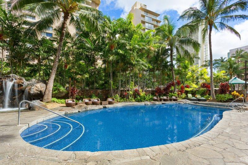 Courtyard by Marriott Waikiki-Outdoor Pool & Waterfall<br/>Image from Leonardo
