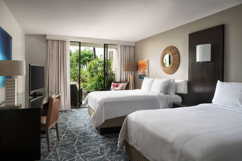 Waikoloa Beach Marriott - Double/Double Garden View Guest Room <br/>Image from Leonardo