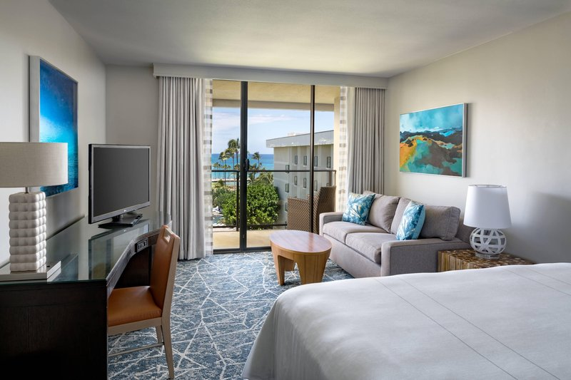 Waikoloa Beach Marriott - King Ocean View Guest Room - Living Area <br/>Image from Leonardo