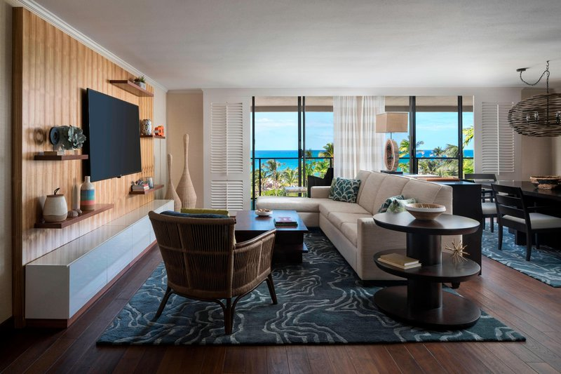 Waikoloa Beach Marriott - Kukui Ocean View Suite - Living Area <br/>Image from Leonardo