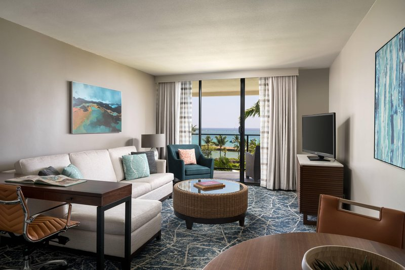 Waikoloa Beach Marriott - Ocean Parlor Suite - Living Room <br/>Image from Leonardo