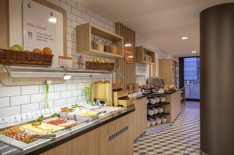 Holiday Inn Express Hamburg - City Hauptbahnhof-Cheeses and cold meats are among the buffet breakfast options.<br/>Image from Leonardo