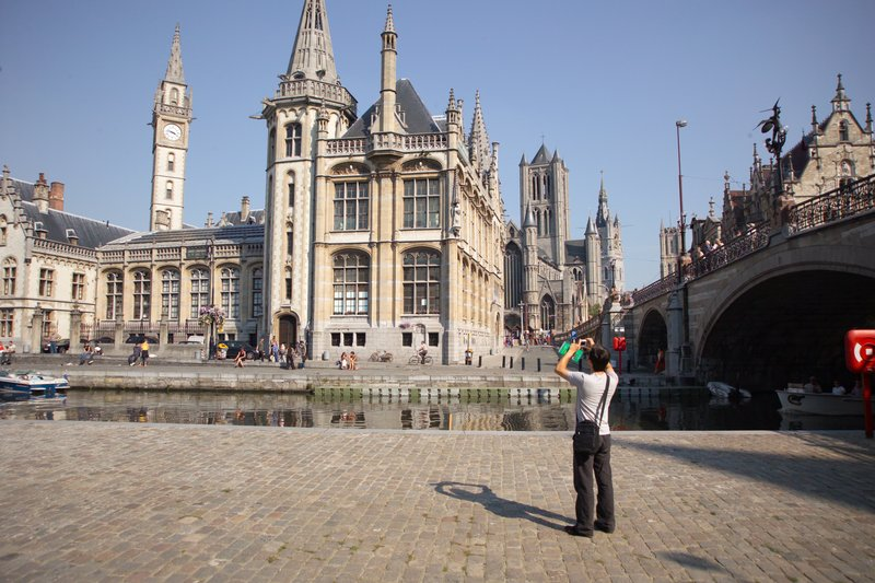 Holiday Inn Express Gent-Graslei and the Towers Of Ghent (4km)<br/>Image from Leonardo