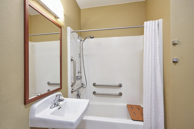 Candlewood Suites Aurora-Naperville-ADA/Handicapped accessible Guest Bathroom with mobility tub<br/>Image from Leonardo