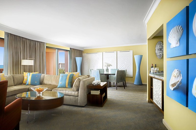 The Royal at Atlantis - Grand Suite – Living Room <br/>Image from Leonardo