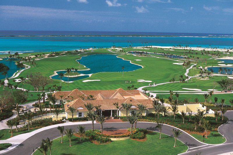 The Royal at Atlantis - Ocean Club Golf Course Aerial View <br/>Image from Leonardo