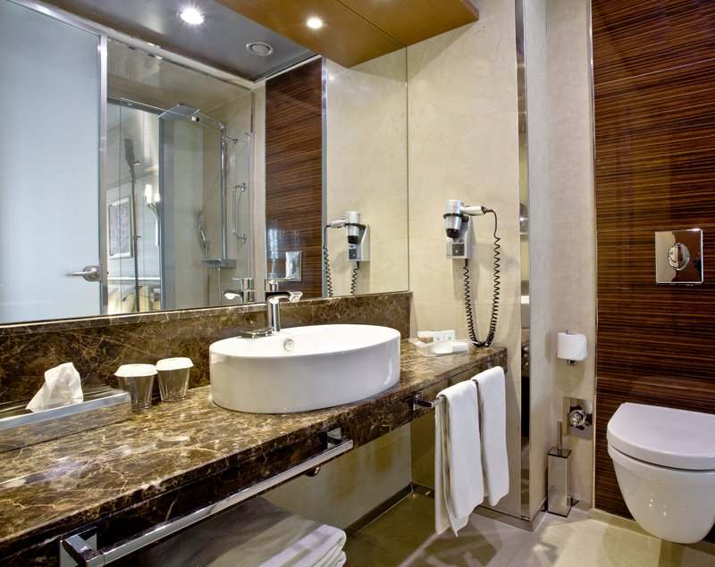 Holiday Inn Ankara-Kavaklidere-Contemporary Two Twin Nonsmoking Guest Bath<br/>Image from Leonardo