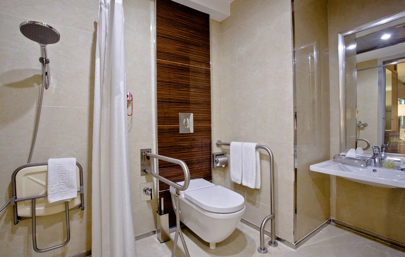 Holiday Inn Ankara-Kavaklidere-Convenient ADA/Wheelchair Accessible Bath with Roll In Shower<br/>Image from Leonardo