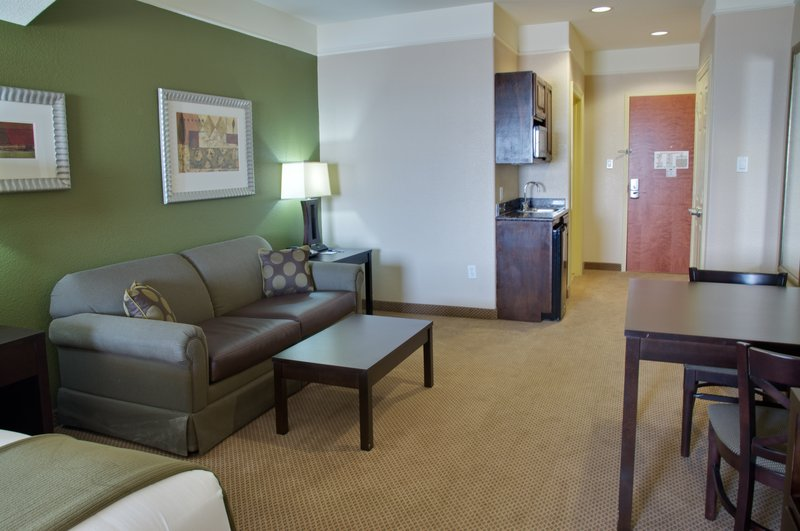 Holiday Inn Express and Suites Galveston Beach-Suite Living Space<br/>Image from Leonardo