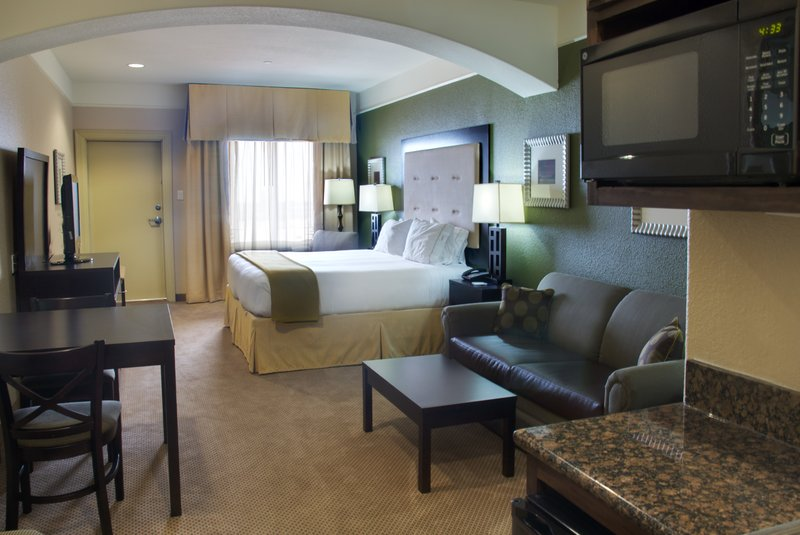 Holiday Inn Express and Suites Galveston Beach-King Bed Suite Full View<br/>Image from Leonardo