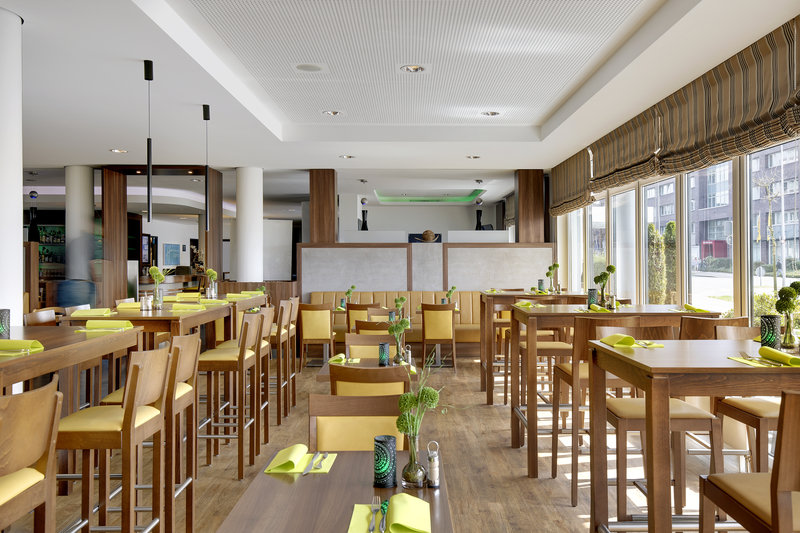Holiday Inn Express Bremen Airport-An Express Start Breakfast is served in the dining area.<br/>Image from Leonardo