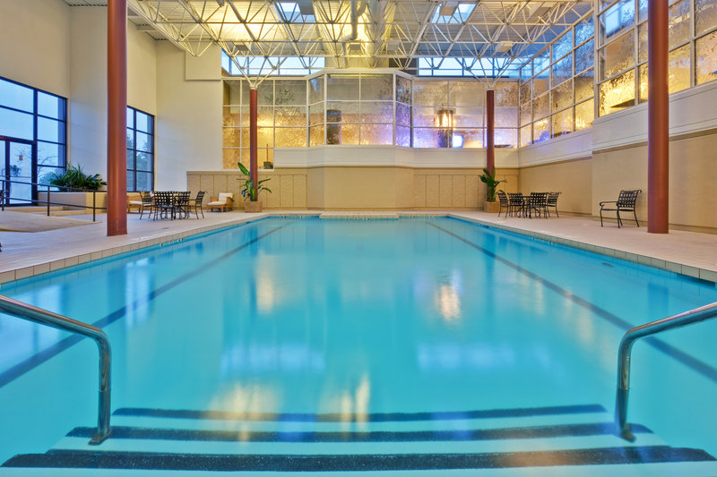 Crowne Plaza Chicago Ohare Hotel & Conference Center-Indoor swimming pool with outdoor patio<br/>Image from Leonardo