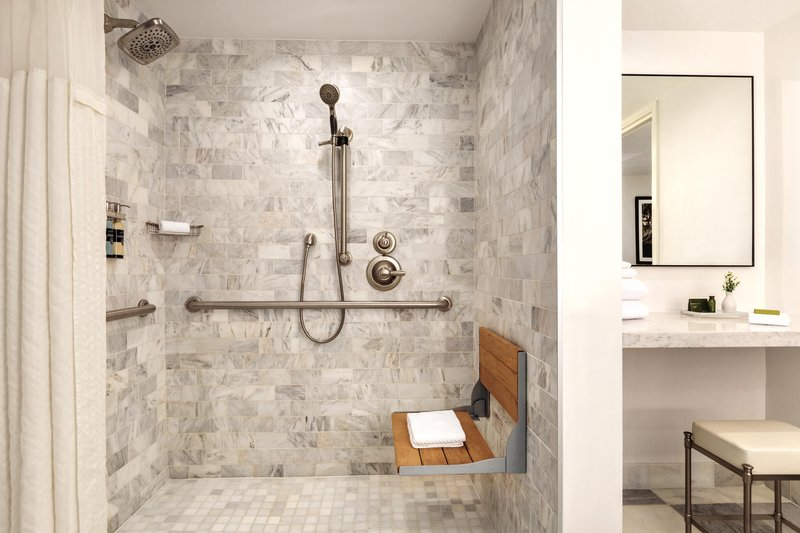 Hotel Ballast Wilmington, Tapestry Collection by Hilton-ADA Bathroom Roll-In Shower<br/>Image from Leonardo