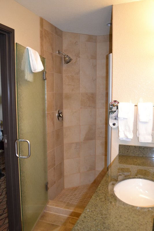 Holiday Inn Eau Claire South I-94-Large Walk In Shower in our King Feature Room<br/>Image from Leonardo