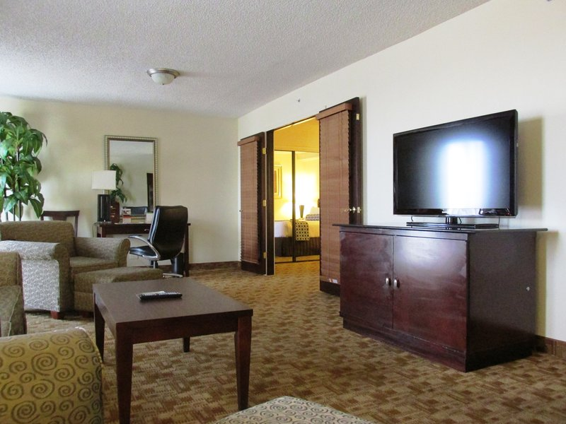 Crowne Plaza Austin-Our executive suite living room with king size bedroom.<br/>Image from Leonardo