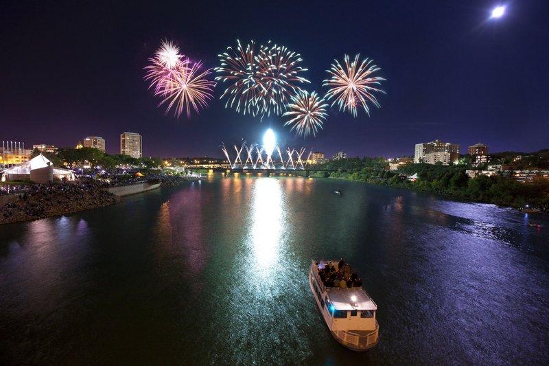 Holiday Inn Saskatoon Downtown-Canada Day fireworks in Saskatoon<br/>Image from Leonardo