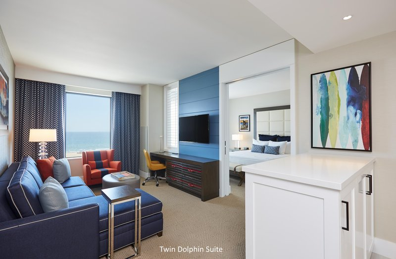The Waterfront Beach Resort, A Hilton Hotel-TWIN DOLPHIN TOWER ONE-BEDROOM SUITE OCEANFRONT<br/>Image from Leonardo