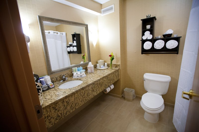 Holiday Inn Express & Suites Vineland Millville-Guest Bathroom<br/>Image from Leonardo