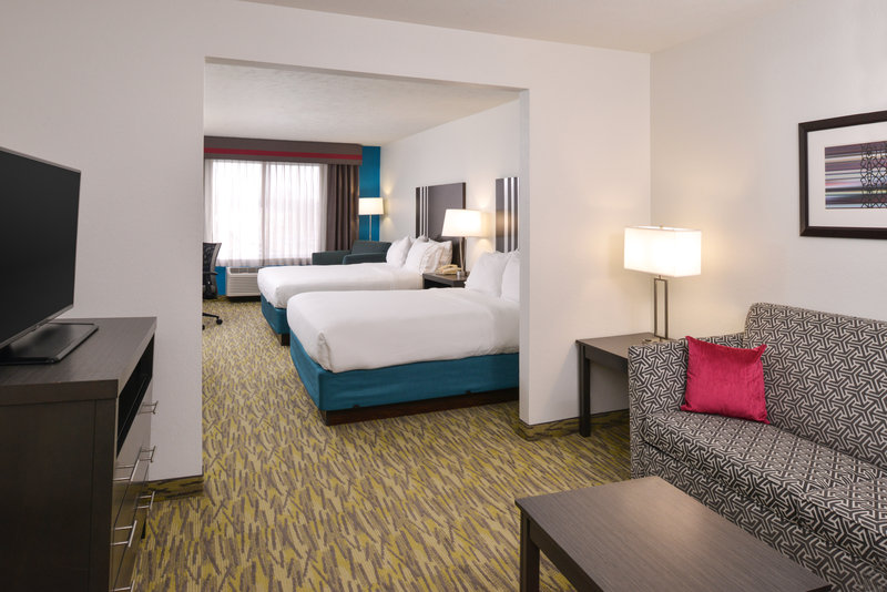 Holiday Inn Express & Suites Omaha West-Two Queen Bed suite with pull out sofa bed<br/>Image from Leonardo