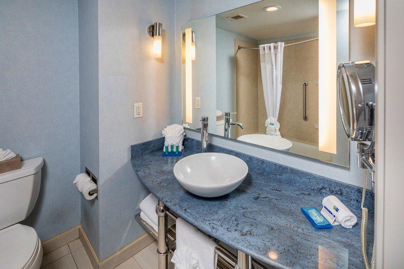 Holiday Inn Express & Suites Modesto-Salida-Guest Bathroom<br/>Image from Leonardo