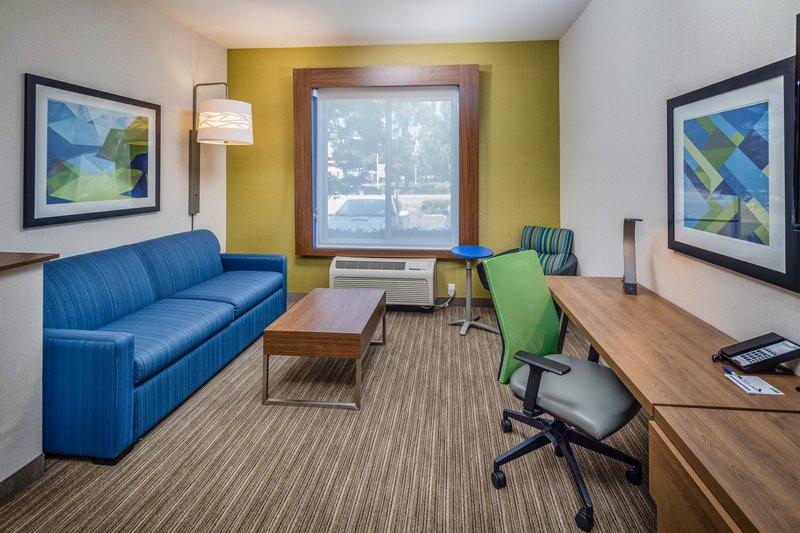 Holiday Inn Express & Suites Modesto-Salida-Suite Sitting Area with Sofa Sleeper<br/>Image from Leonardo