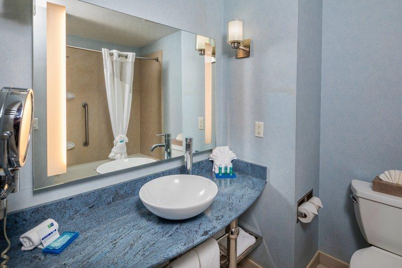 Holiday Inn Express & Suites Modesto-Salida-Modern Guest Bathroom<br/>Image from Leonardo