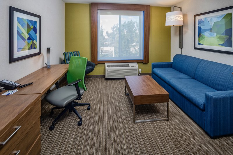 Holiday Inn Express & Suites Modesto-Salida-1 King Bed Suite Sitting Area with Sofa Sleeper<br/>Image from Leonardo