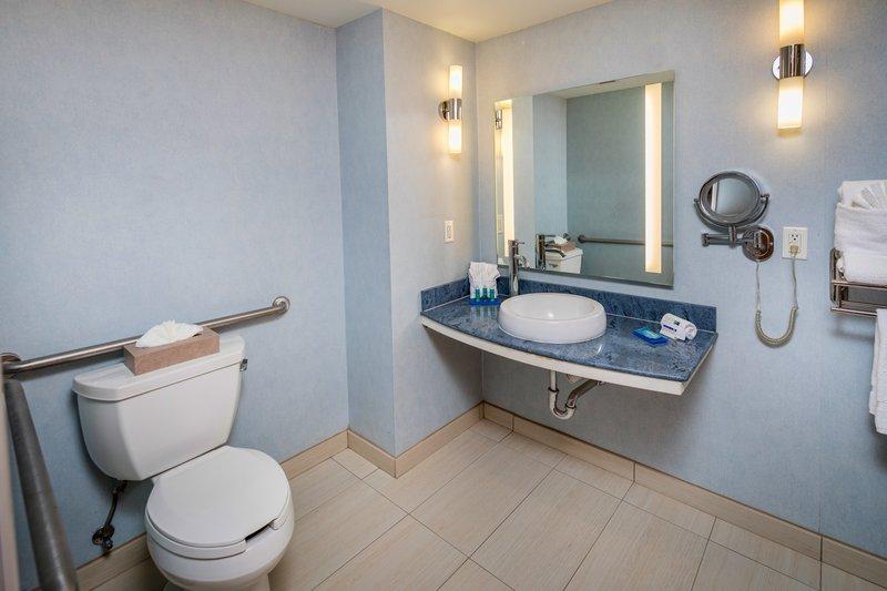 Holiday Inn Express & Suites Modesto-Salida-ADA Guest Bathroom<br/>Image from Leonardo