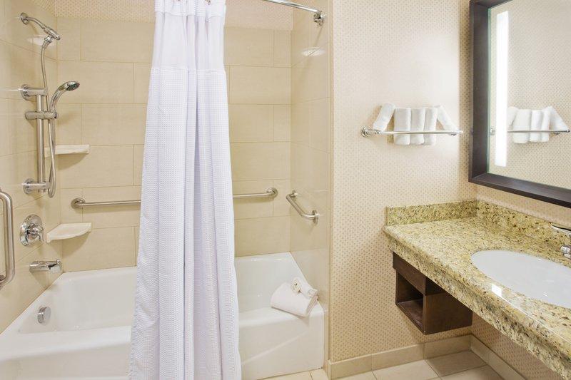 Crowne Plaza Anchorage Midtown-ADA Accessible Guest Bathroom<br/>Image from Leonardo