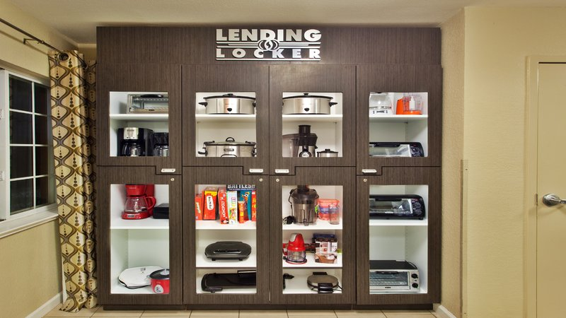 Candlewood Suites Jersey City-Lending Locker - for what you can't fit in your suitcase.<br/>Image from Leonardo