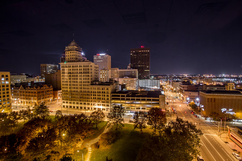 Crowne Plaza Dayton-Take in Dayton's skyline while enjoying a drink at View 162!<br/>Image from Leonardo