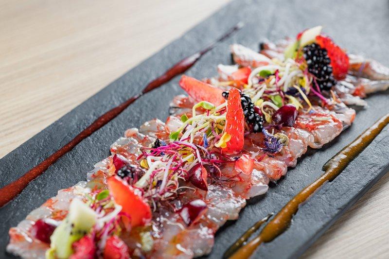 AC Hotel Torino-AC Lounge - Sicilian Shrimps Carpaccio<br/>Image from Leonardo
