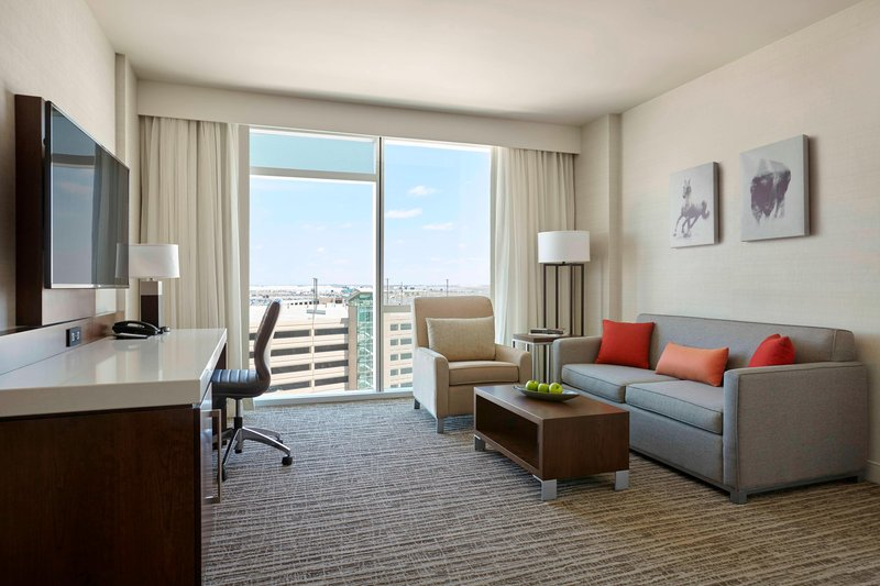 Delta Hotel Calgary Airport In-Terminal-One-Bedroom Suite - Living Room<br/>Image from Leonardo