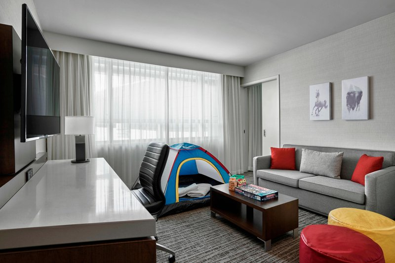Delta Hotel Calgary Airport In-Terminal-Family Suite - Living Room<br/>Image from Leonardo