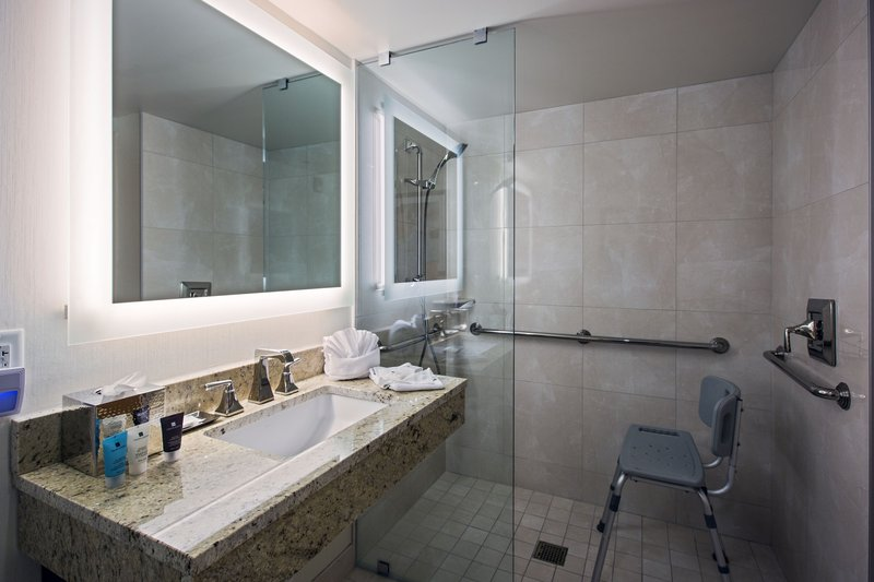 Crowne Plaza Philadelphia - King of Prussia-Up-to-Date ADA Accessible Guest Bathroom with Roll-in Shower<br/>Image from Leonardo