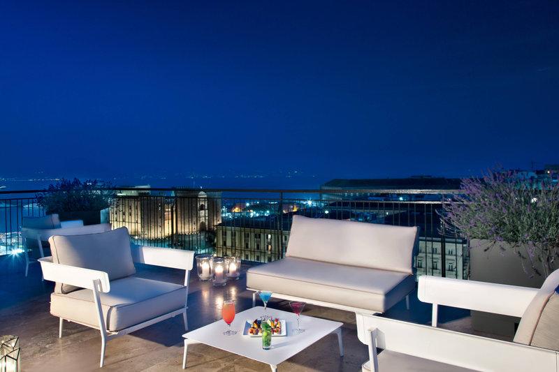 Renaissance Naples Hotel Mediterraneo-Rooftop Terrace<br/>Image from Leonardo