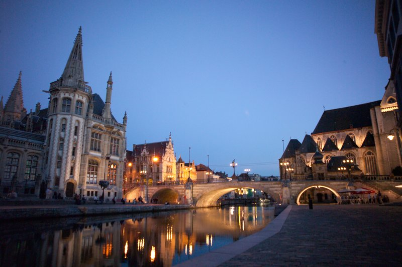 Holiday Inn Express Gent-Downtown: The old Port of Ghent (4 Km)<br/>Image from Leonardo
